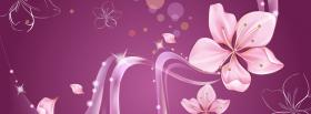 free pink flower creative facebook cover
