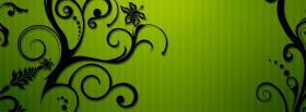 free lime green backround creative facebook cover