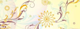 free simple flower creative facebook cover