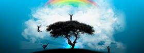 free tree rainbow creative facebook cover