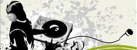 free dj playing music creative facebook cover