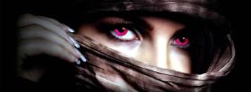 free pink eyes creative facebook cover