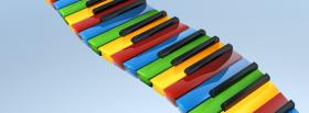 free rainbow piano creative facebook cover