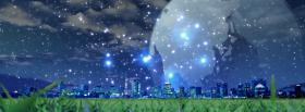 free sparkles city night creative facebook cover
