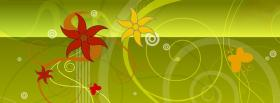 free red yellow flowers creative facebook cover