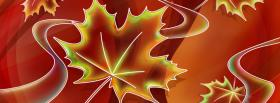 free autumn leaves creative facebook cover