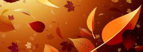 free falling leaves creative facebook cover