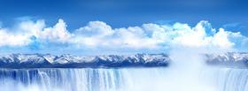 free nice waterfall clouds creative facebook cover