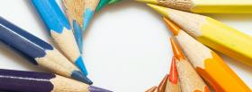 free circle of crayons creative facebook cover