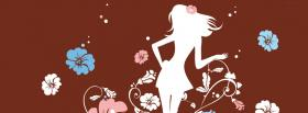 free girly girl flowers creative facebook cover