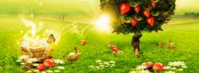 free strawberry tree creative facebook cover