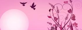 free pink sun and birds facebook cover