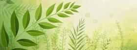 free green plants creative facebook cover