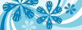 free blue snowflakes creative facebook cover