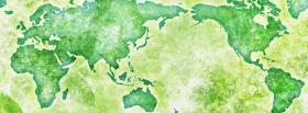 free green map creative facebook cover