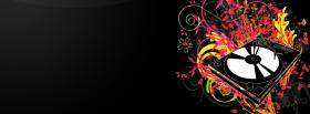 free music flowers creative facebook cover