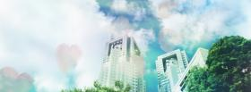 free buildings and sky creative facebook cover
