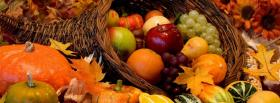 free pumpkins and fruits facebook cover