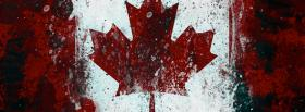canadian leaf holiday facebook cover