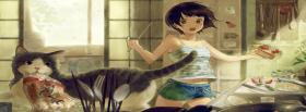 free cooking cat woman manga facebook cover