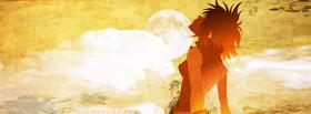 free sunset short hair manga facebook cover