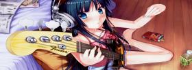 free guitar and girl manga facebook cover
