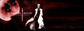 free crimson moon red manga facebook cover