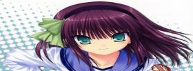 free blue eyes girl manga facebook cover