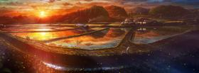 free rural scenery manga facebook cover