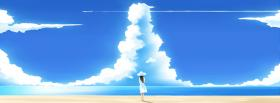 free beach clouds anime manga facebook cover