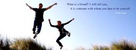 what is a friend quote facebook cover