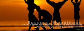 success happiness quote facebook cover