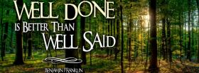 free well done well said facebook cover