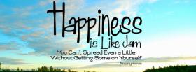 free happiness like jam quotes facebook cover