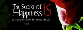 free the secret of happiness facebook cover