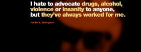 drugs alcohol violence quotes facebook cover