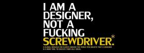 free not a screwdriver quotes facebook cover
