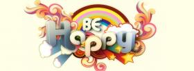 free rainbow be happy quotes facebook cover