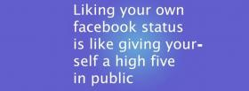 free liking your status quotes facebook cover