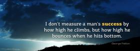free measure mans success quotes facebook cover