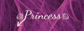 free purple princess quotes facebook cover
