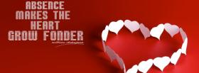 free heart grow fonder quotes facebook cover