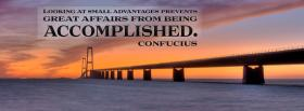 affairs being accomplished quote facebook cover