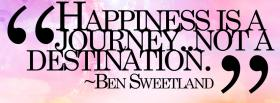free happiness journey quotes facebook cover
