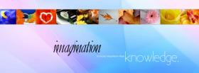 free imagination knowledge quotes facebook cover
