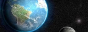 space earth and planet facebook cover