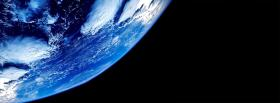 view of earth space facebook cover