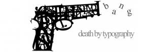gun death by typography facebook cover