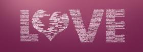 free purple love typography facebook cover