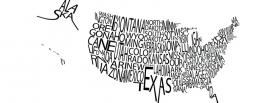 free american map typography facebook cover